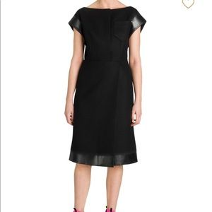 NWT, Prada Wool Black Midi Dress